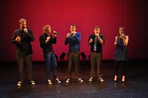 Wir auf der Bühne